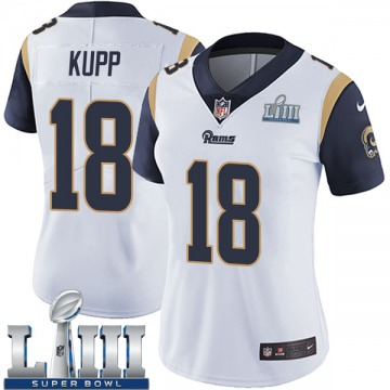 Women's Los Angeles Rams Cooper Kupp White Limited Super Bowl LIII Bound Vapor Untouchable Jersey By Nike