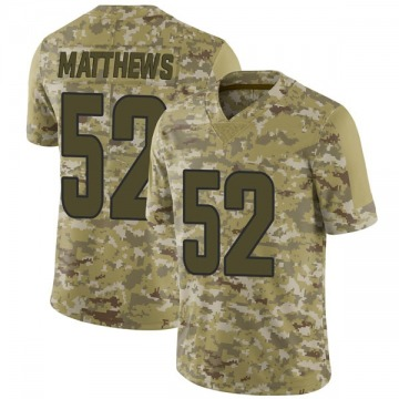 Youth Los Angeles Rams Clay Matthews Camo Limited 2018 Salute to Service Jersey By Nike