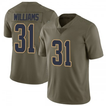 Youth Los Angeles Rams Darious Williams Green Limited 2017 Salute to Service Jersey By Nike