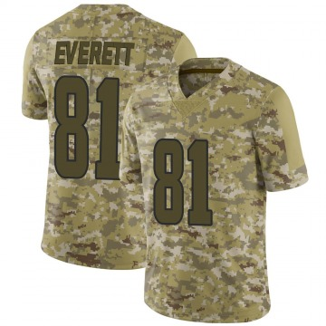 Youth Los Angeles Rams Gerald Everett Camo Limited 2018 Salute to Service Jersey By Nike