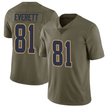 Youth Los Angeles Rams Gerald Everett Green Limited 2017 Salute to Service Jersey By Nike