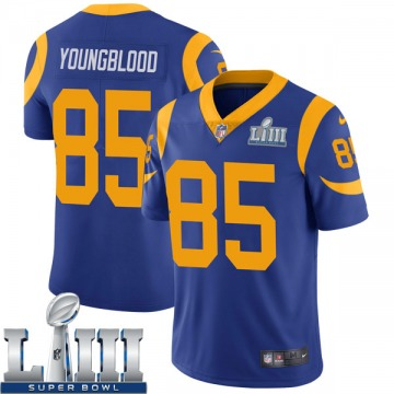 Youth Los Angeles Rams Jack Youngblood Royal Limited Alternate Super Bowl LIII Bound Vapor Untouchable Jersey By Nike