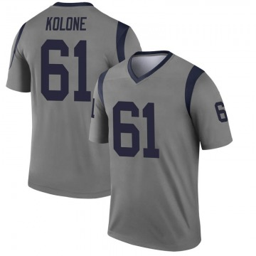Youth Los Angeles Rams Jeremiah Kolone Gray Legend Inverted Jersey By Nike