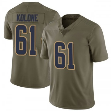 Youth Los Angeles Rams Jeremiah Kolone Green Limited 2017 Salute to Service Jersey By Nike