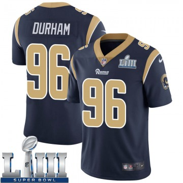 Youth Los Angeles Rams Landis Durham Navy Limited Team Color Super Bowl LIII Bound Vapor Untouchable Jersey By Nike